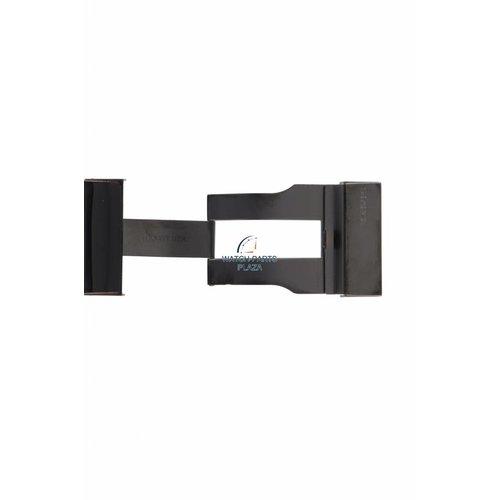 Philippe Starck Horlogeband Philippe Starck PH5010 Zwart leren band 30 mm