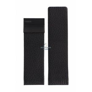 Philippe Starck Bracelet de montre Philippe Starck PH-5010 en cuir noir 30 mm