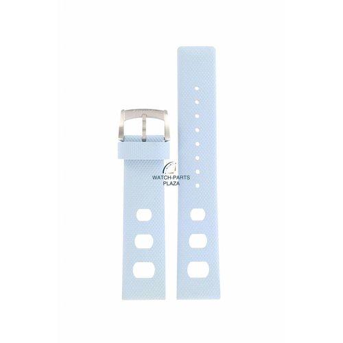 Zodiac Cinturino per orologio Zodiac ZO-2230 in gomma blu da 20 mm