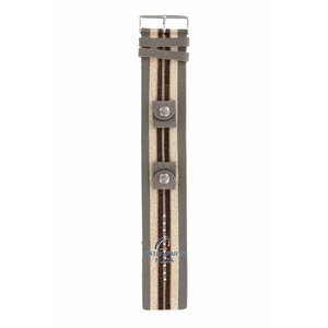 Fossil Fossil JR-9015 Watch Band Leather 20 mm Stripe