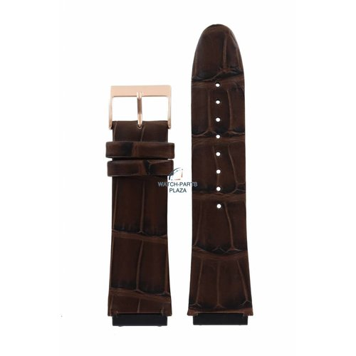 Guess Guess Rigor W0040G3 Watch Band Brown Leather Strap 22 mm