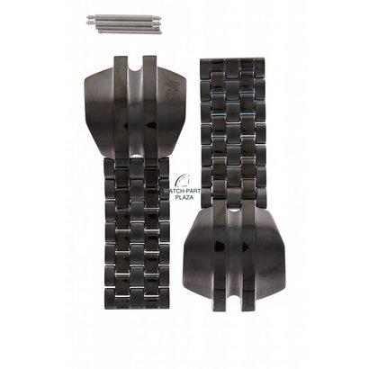 Diesel Horlogeband Diesel DZ4084 roestvrij staal zwart 20mm DZ 4084