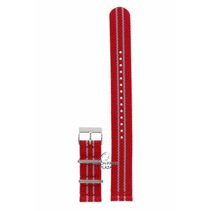 Tissot Tissot T095417 Uhrenarmband 19 mm rot Canvas