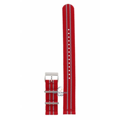 Tissot Horlogebandje T0954171703712 Tissot Quickster rood canvas band 19mm NBA Houston