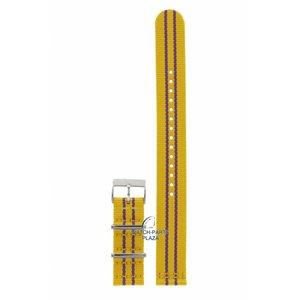 Tissot Tissot T09541717 bracelet de montre 19 mm toile jaune