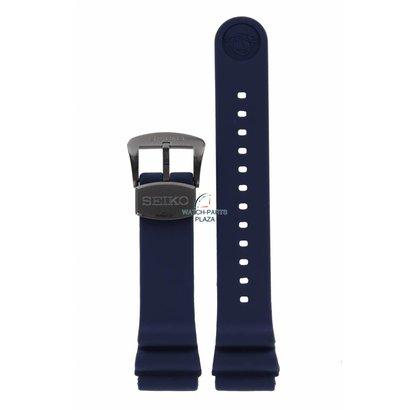Seiko Horlogeband voor Seiko SRPD09K1 Prospex 4R35-01X0 22mm donkerblauwe band Save The Ocean
