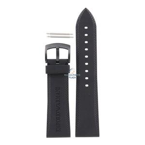 Armani Armani AR-0584 bracelet de montre noir en caoutchouc 23 mm noir