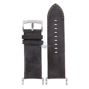 Armani Bracelet de montre Armani AR-5901 en cuir marron 30 mm