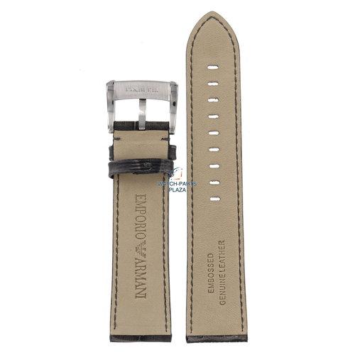 Armani Correa de reloj AR4206 Emporio Armani Meccanico correa de cuero gris 22 mm