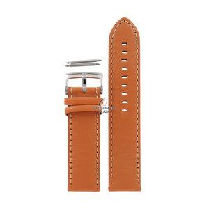 Armani Bracelet de montre Armani AR-5814 en cuir orange 23 mm