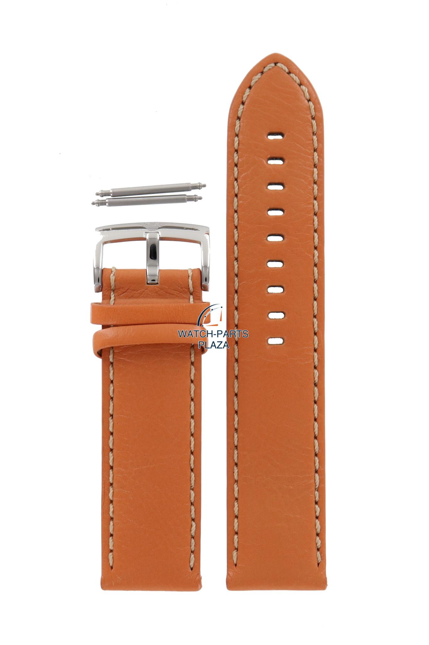 e18c84e6003b Armani Banda de reloj AR5814 Emporio Armani correa de cuero naranja de 23  mm original de