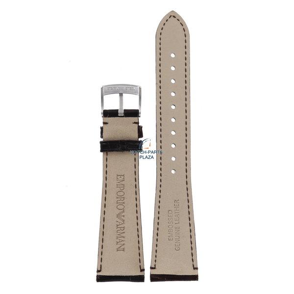Armani Horlogeband AR0403 Emporio Armani Marco Medium bruin leren band 22 mm origineel AR0490