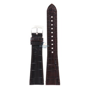 Armani Armani AR-0403/0490 bracelet de montre en cuir marron 22 mm