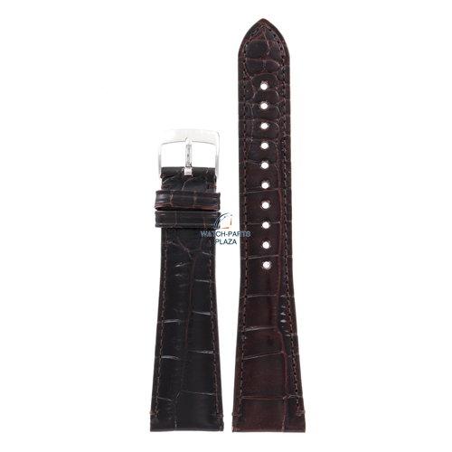 Armani Armani AR-0403/0490 correa de reloj marrón cuero 22 mm