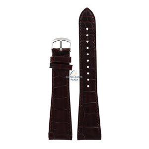 Armani Armani AR-0248 correa de reloj marrón cuero 22 mm