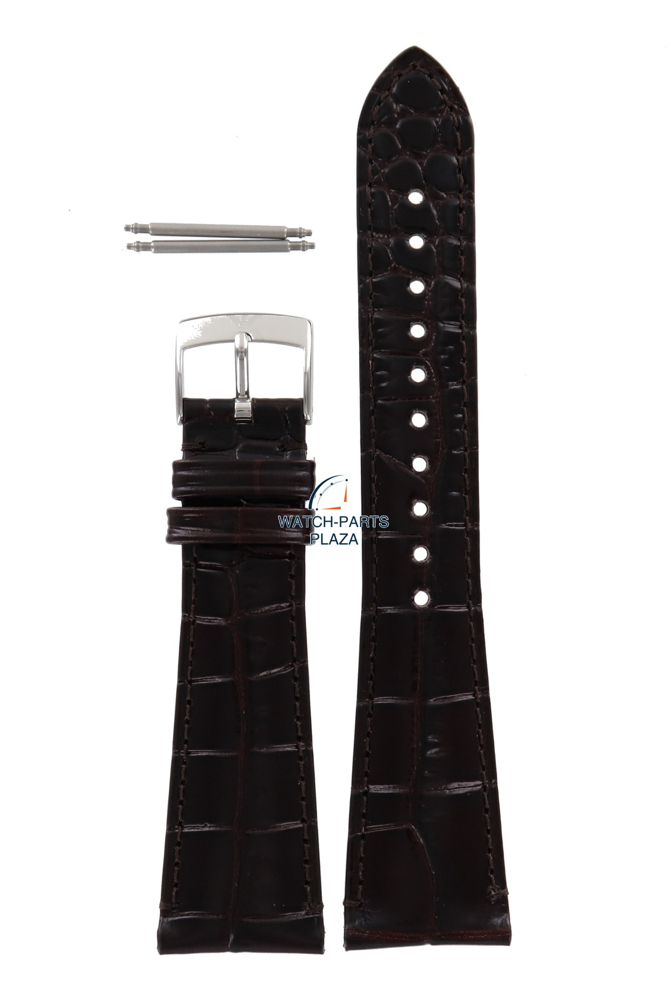 bf424bdd83d4 Armani Banda de reloj AR0285 Emporio Armani correa de cuero marrón oscuro  22 mm original