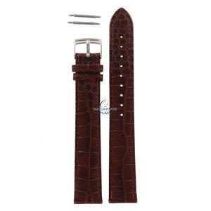 Armani Armani AR-0204 XL bracelet de montre en cuir marron 18 mm