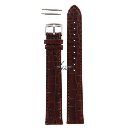 Armani Armani AR-0204 XL horlogeband bruin leer 18 mm