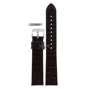 Armani Armani AR-0404 correa de reloj de cuero marrón oscuro 18 mm