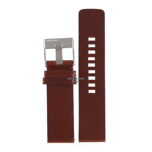 Diesel Bracelet de montre Diesel DZ-1075 en cuir marron 24 mm