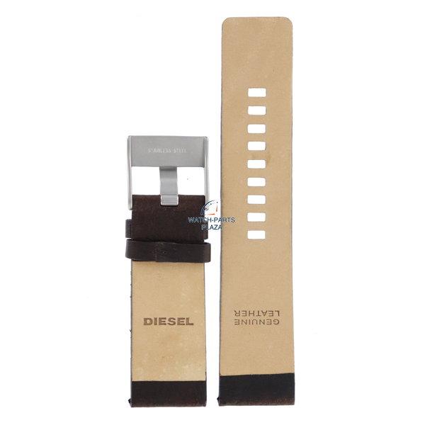 Diesel Horlogebandje Diesel DZ1148 bruin leren band 26mm origineel