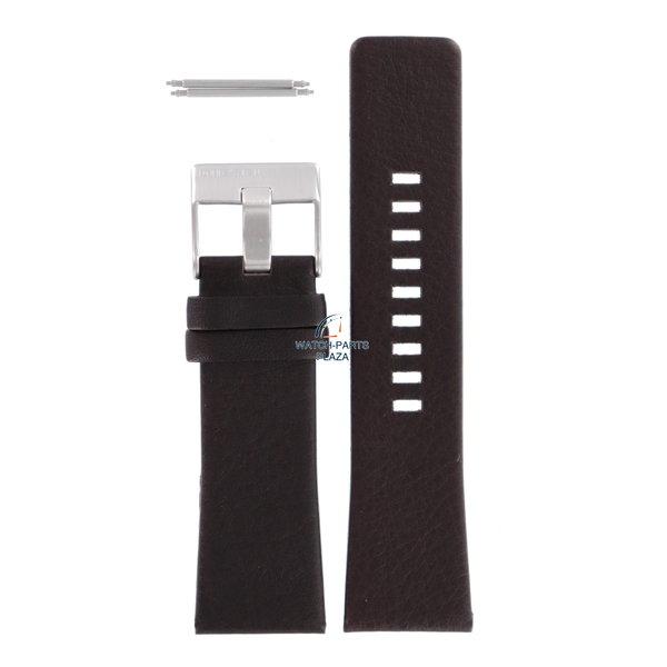 Diesel Horlogeband Diesel DZ1206 donkerbruine leren band 27 mm origineel