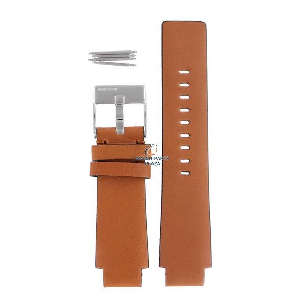 Diesel Horlogeband Diesel DZ2045 lichtbruin lederen band 18mm origineel