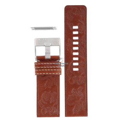 Diesel Horlogeband Diesel DZ2137 lichtbruin lederen band 26 mm origineel