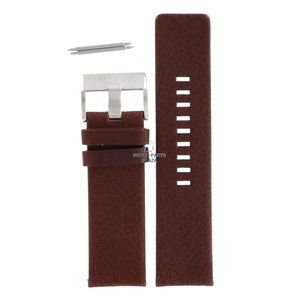 Diesel Bracelet de montre Diesel DZ-1234 en cuir marron 26 mm