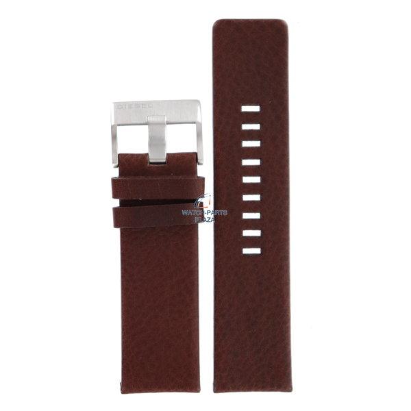 Diesel Horlogeband Diesel DZ1234 bruin lederen band 26mm origineel