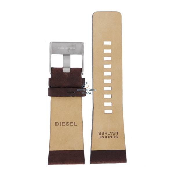 Diesel Horlogeband Diesel DZ1334 bruin lederen band 29 mm origineel