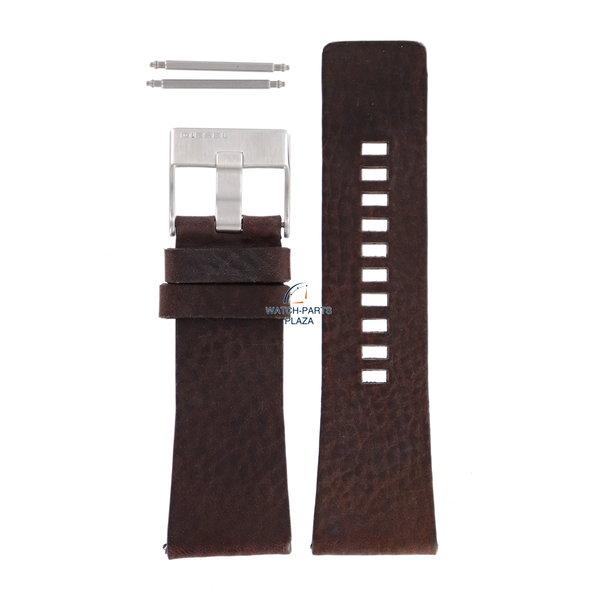 Diesel Horlogeband Diesel DZ1314 bruin leren band 29 mm origineel
