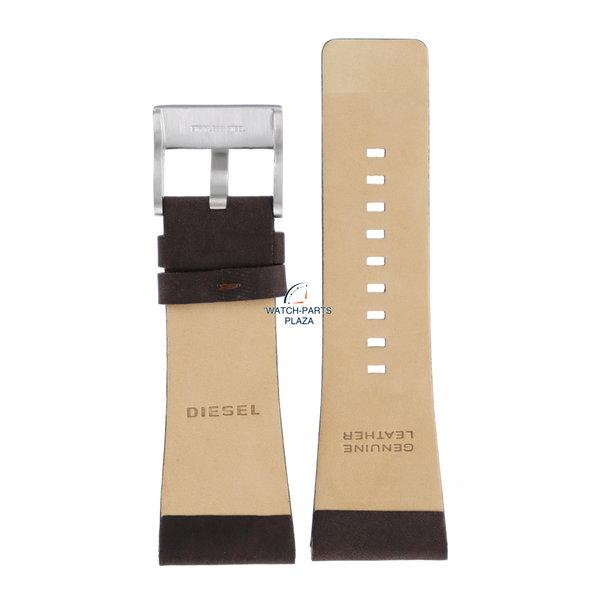 Diesel Horlogeband Diesel DZ1200 donker bruin lederen band 30 mm origineel