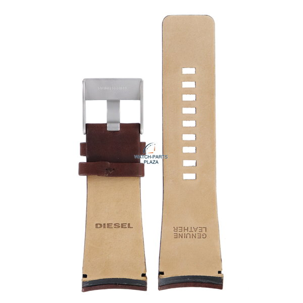 Diesel Horlogeband Diesel DZ1179 bruin lederen band 29mm origineel