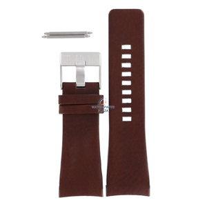 Diesel Bracelet de montre Diesel DZ-1179 en cuir marron 29 mm