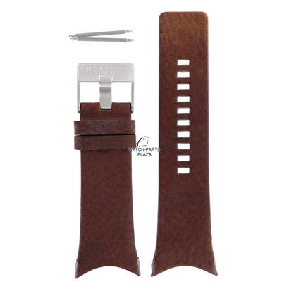 Diesel Horlogeband Diesel DZ1153 bruin lederen band 32mm origineel
