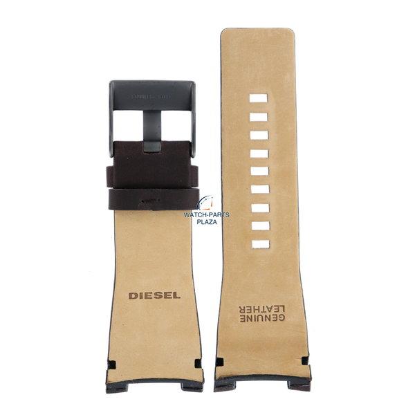 Diesel Horlogeband Diesel DZ1216 bruin lederen band 32mm Bugout origineel