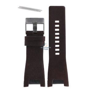 Diesel Bracelet montre Diesel DZ-1216 en cuir marron 32 mm
