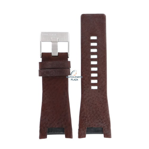 Diesel Bracelet de montre Diesel DZ-1273 en cuir marron 32 mm