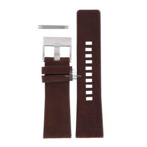 Diesel Bracelet de montre Diesel DZ-1399 en cuir marron 27 mm