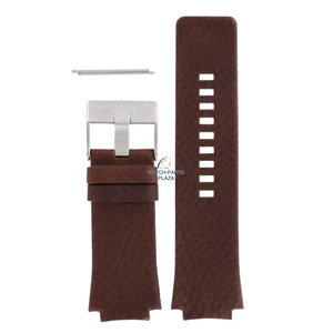 Diesel Diesel DZ-1145 pulseira de relógio marrom couro 20 mm