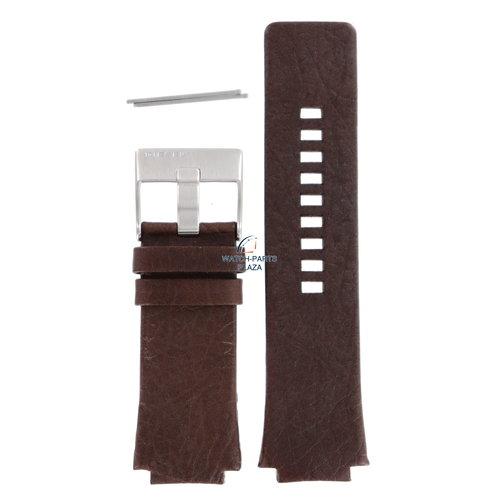 Diesel Banda de reloj Diesel DZ1111 correa de cuero marrón 20 mm original DZ-1111