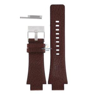 Diesel Bracelet de montre Diesel DZ-1175 en cuir marron 18 mm