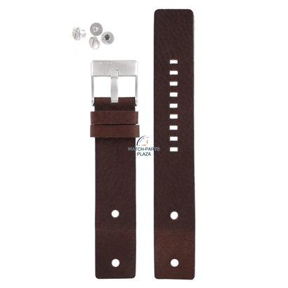 Diesel Horlogeband Diesel DZ2146 bruin lederen band 22mm origineel