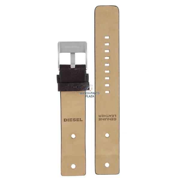 Diesel Watch Band Diesel DZ2128 dark brown leather strap 22mm original