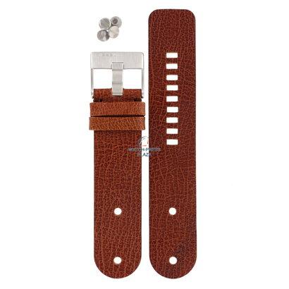 Diesel Watch Band Diesel DZ2010 light brown leather strap 26mm original