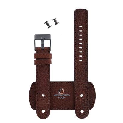 Diesel Watch Band Diesel DZ2080 brown cuff leather strap 20mm genuine