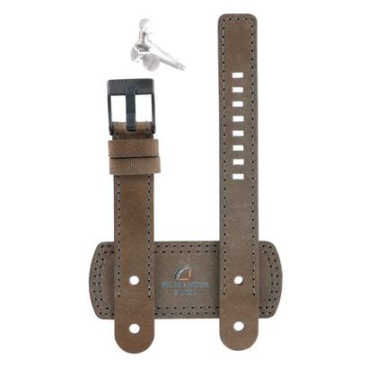 Diesel Horlogeband Diesel DZ2103 bruin lederen band 16mm zwarte gesp