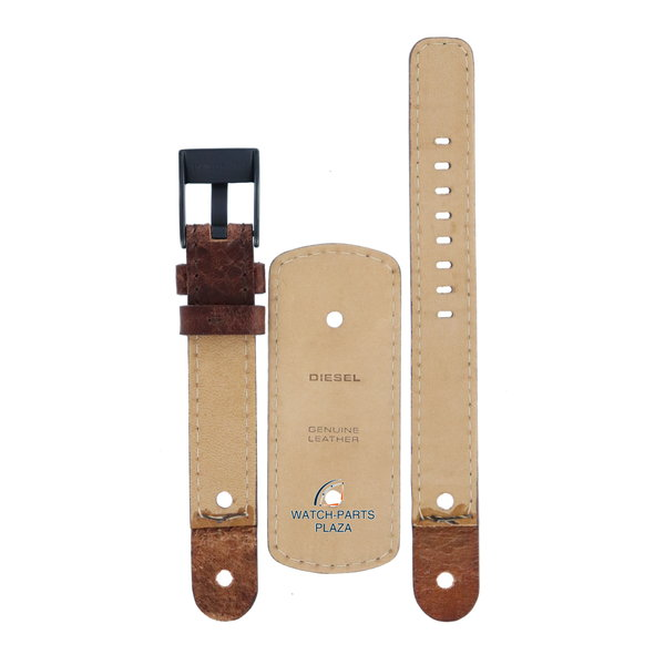 Diesel Watch Band Diesel DZ2081 original brown cuff leather strap 16mm black buckle