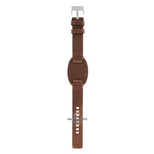 Diesel Diesel DZ-2034 correa de reloj marrón cuero 18 mm